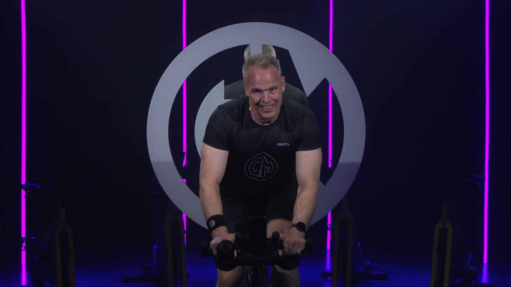 Cycling instructor Evert van der Zee